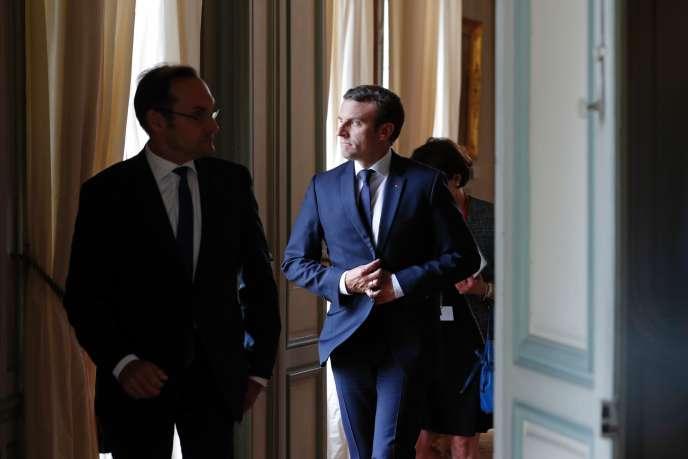 Emmanuel Macron, le 25 juillet à la Celle-Saint-Cloud (Yvelines).