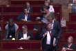 Jean-Luc Mélenchon et les députés de France insoumise quittent l'hémicycle le 27 juillet.
