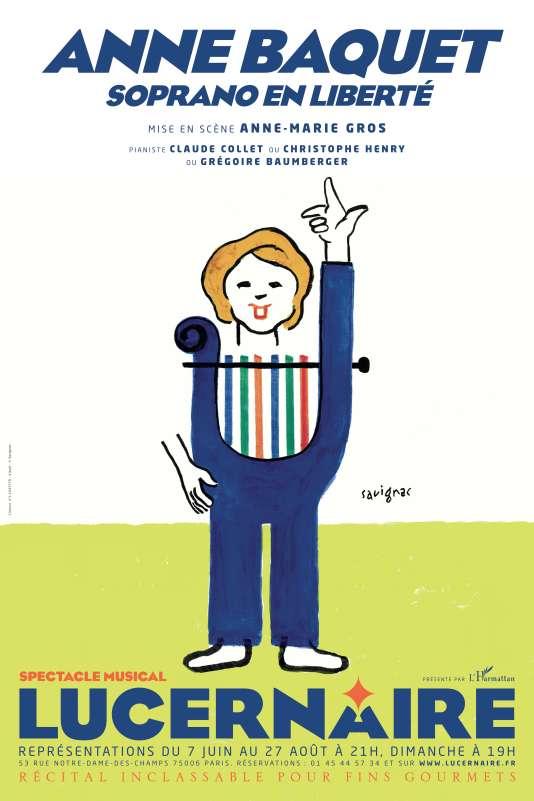 « Soprano en liberté », le nouveau spectacle d'Anne Baquet au Théâtre Lucernaire, jusqu'au 27 août.