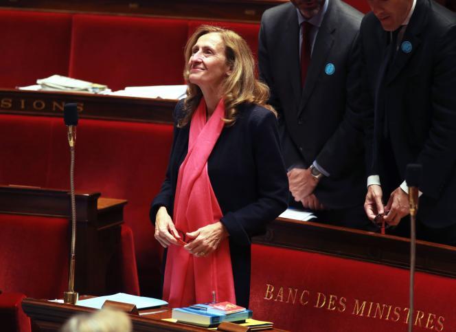 La garde des sceaux, Nicole Belloubet, à l'Assemblée nationale à Paris, le 27 juillet.