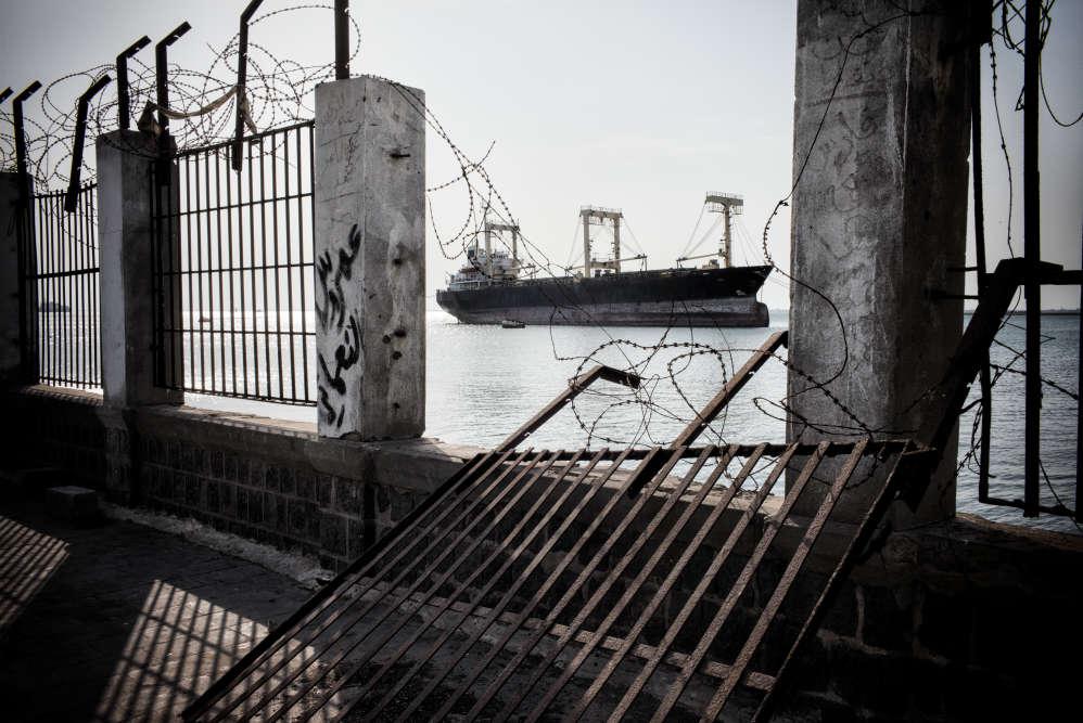 Dans le port d'Aden.
