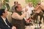 Le premier ministre sortant du Pakistan, Nawaz Sharif, s'adresse aux membres de son parti, le PML-N (Ligue musulmane du Pakistan-Nawaz), le 29 juillet 2017, à Islamabad.
