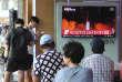Diffusion des images du tir de missile balistique nord-coréen, samedi 29 juillet, à Séoul (Corée du Sud).