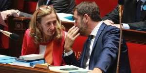 La ministre de la justice, Nicole Belloubet, etle ministre en charge des relations avec le Parlement, Christophe Castaner, le 28juillet à l'Assemblée.