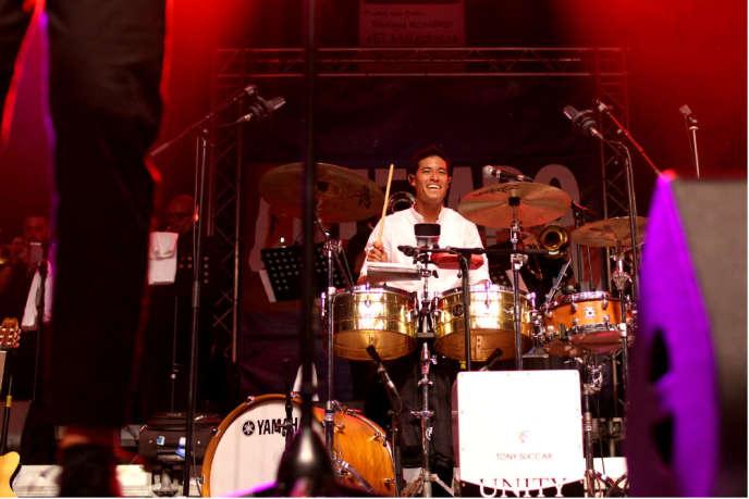 Le percussionniste Tony Succar, samedi 29 juillet à Tempo Latino.