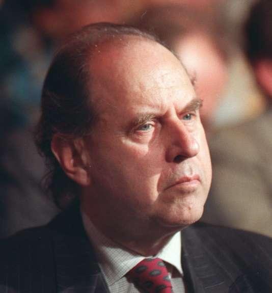 Claude Contamine, ancien président d'Antenne 2,en janvier 1989.