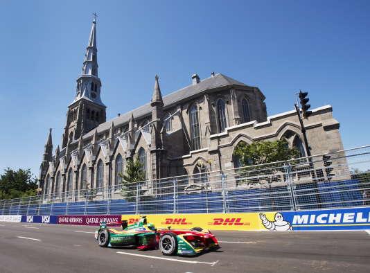 Le leader du championnat de FE Lucas di Grassi (Audi-Abt-Schaeffler), couronné sur le nouveau circuit de Montréal, le 30 juillet.