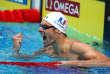Le nageur français Camille Lacourt lors de la finale du 50 m dos des championnats du monde, à Budapest (Hongrie), le 30 juillet.