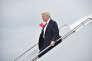 Le président américain Donald Trump arrive à l'aéroport MacArthur de Long Island près de New York, le 28 juillet.