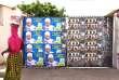 Affiches des candidats aux élections législatives, sur le portail d'une école, à Dakar (Sénégal), le 28 juillet.