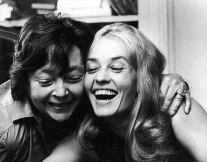 Marguerite Duras (1914-1996) et Jeanne Moreau.