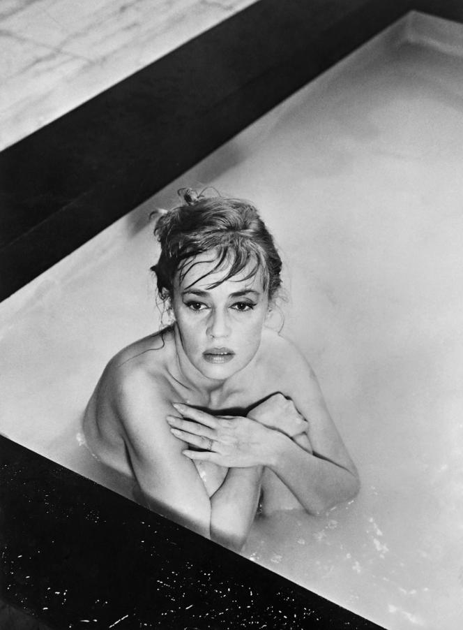 Sur le tournage du film «Eva» de Joseph Losey, en 1961, à Venise.