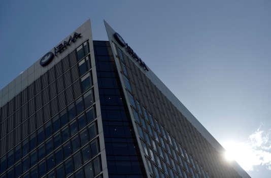 Le siège de l'Agence européenne des médicaments, à Londres, en avril.