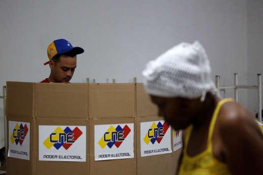 Vote sur l'Assemblée constituante à Caracas (Venezuela), le 30 juillet.