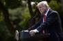 Donald Trump lors de l'annonce du retrait des Etats-Unis de l'accord de Paris, dans le Rose Garden de la Maison Blanche, le 1er juin.
