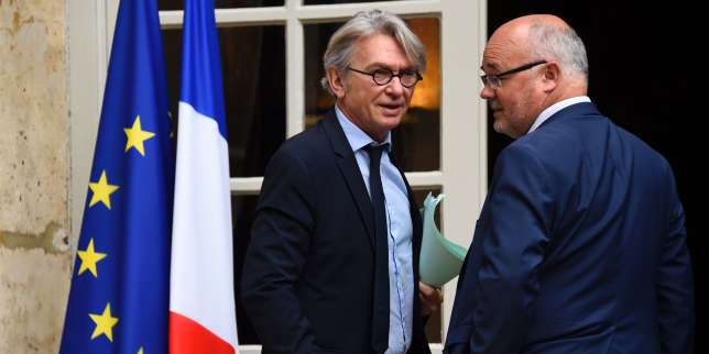 Jean-Claude Mailly et Michel Beaugas, le 25 juillet 2017.
