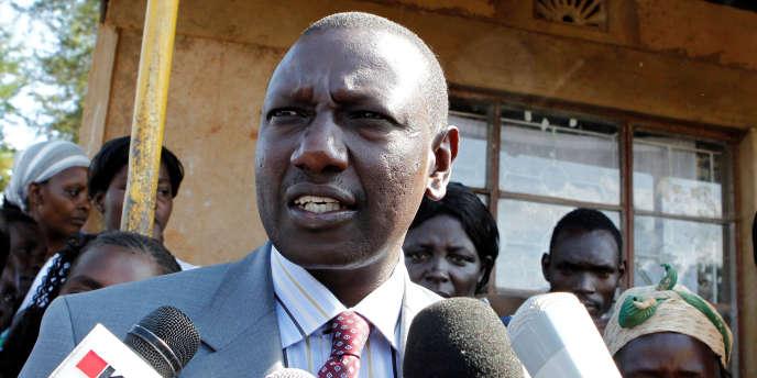 Le vice-président du Kenya, William Ruto, à Sugoi, en août 2010.
