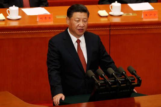 Le président chinois Xi Jinping lors d'un discours pour le 90e anniversaire du pays, le 1er août.