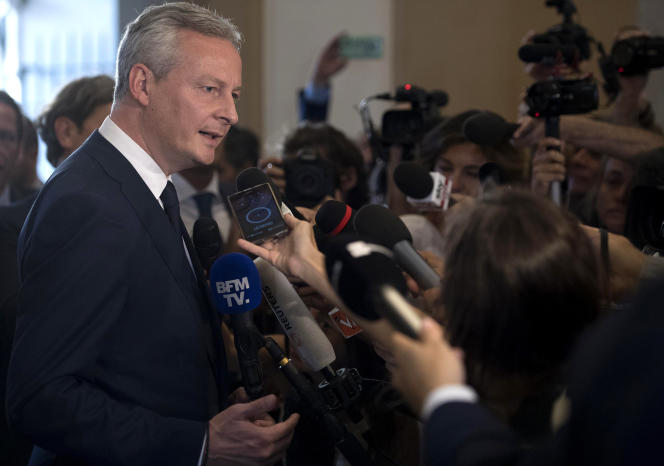 Le ministre de l'économie et des finances Bruno Le Maire à Rome, le 1er août.