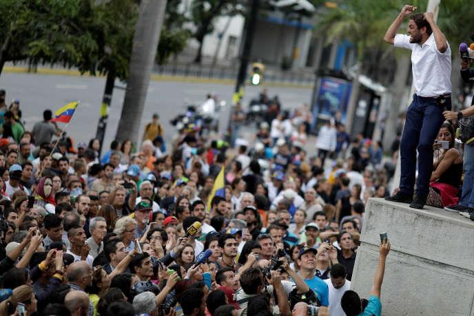 Le député d'opposition, Juan Requesens, à Caracas (Venezuela), le 31 juillet 2017.