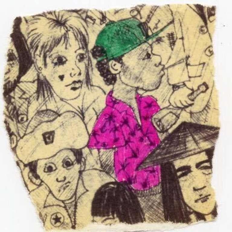 Portrait de Yomi Babayemi par Ali Campbell et Brian Travers, réalisé en préparation d'une des premières affiches de UB40. Reproduction avec l'autorisation de Susy Varty.