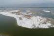 Le rives du lac salé de Yuncheng ont été recouvertes d'un vaste tapis d'écume.