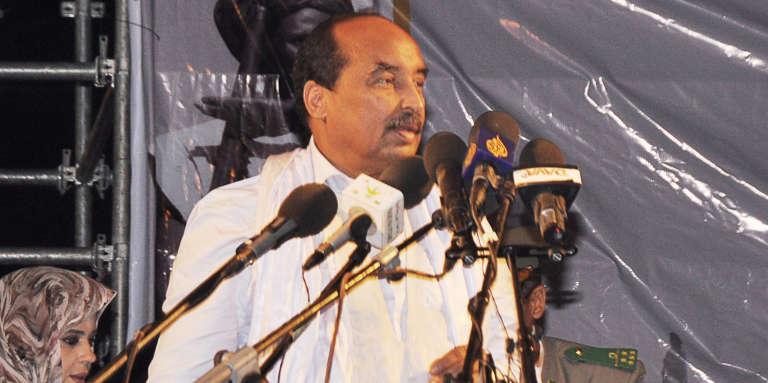 Le président Mohamed Abdel Aziz, lors d'un meeting le 20 juillet.