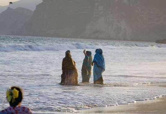 Sur la plage, à Salalah, en mars 2008.