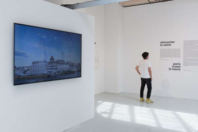 Une vue de l'exposition« Réinventer la Seine » au Pavillon de l'Arsenal à Paris, jusqu'au 3 septembre 2017.