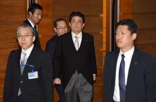 Shinzo Abe, le premier ministre japonais, le 3 août 2017 à Tokyo.