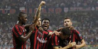 Les joueurs du Milan AC, le 3 août.