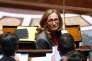 La ministre de la justice Nicole Belloubet à l'Assemblée nationale à Paris, le 24 juillet.