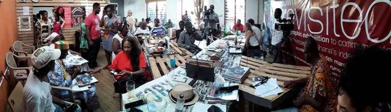 Le Jamestown Café, à Accra, en juin 2017.