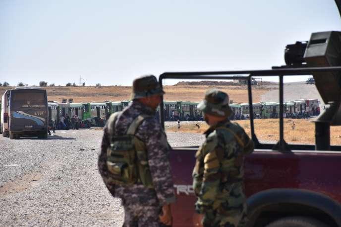 Les forces armées syriennes dans la province de Homs, le 3 août.
