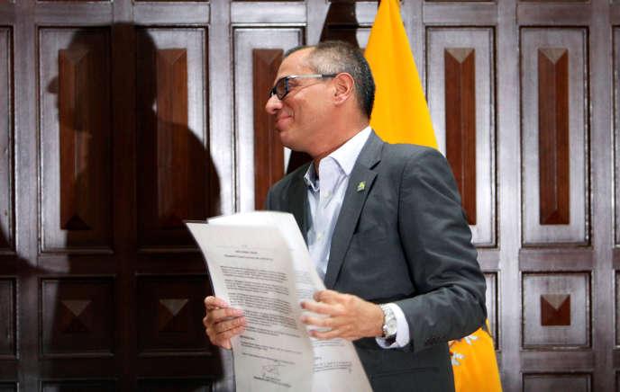 Jorge Glas, l'ex-vice-président équatorien, le 3 août à Quito.