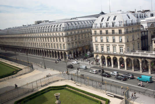 La rue de Rivoli, à Paris, le 17 juin 2009.