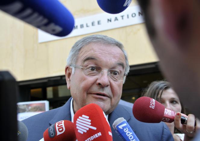 L'ancien ministre de la justice Michel Mercier, à l'Assemblée nationale à Paris, le 21 juin.