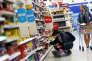Un supermarché, à Londres, le 11 avril.