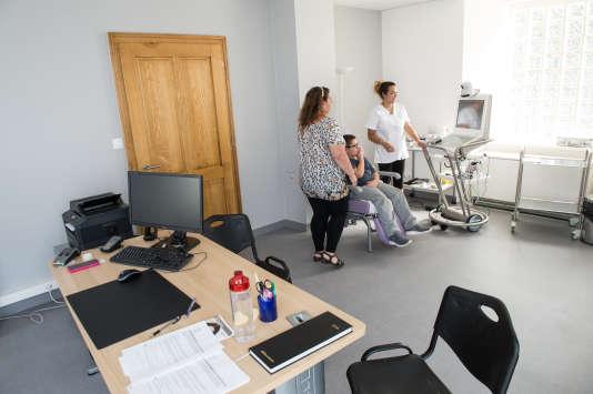 Consultation médicale à Oberbruck, dans les Vosges.