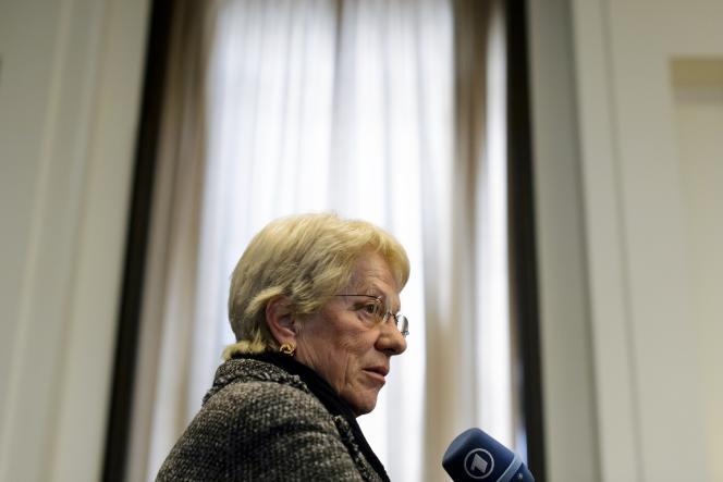Carla del Ponte à Genève (Suisse), en février 2013.