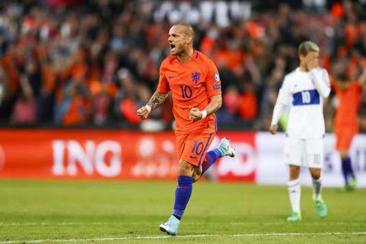 Wesley Sneijder, en juin à Dubai.