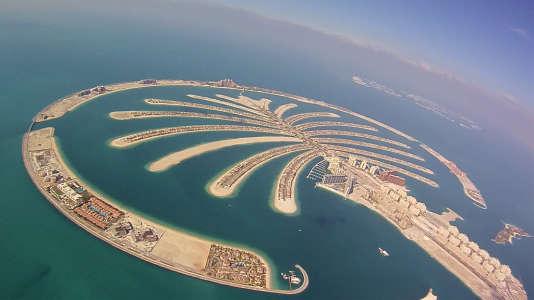 L'îlot artificiel de Palm Jumeirah, en janvier 2013.