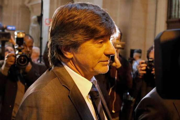 Michel Neyret à l'ouverture de son procès à Paris, en mai 2016.