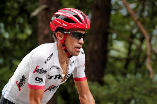 Alberto Contador, lors de l'étape LaMure - Serre-Chevalier, sur le Tour de France 2017, où il avait attaqué dans le col de La-Croix-de-Fer.