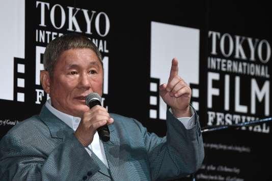 Le cinéaste japonais Takeshi Kitano lors du Tokyo International Film Festival en octobre 2014.