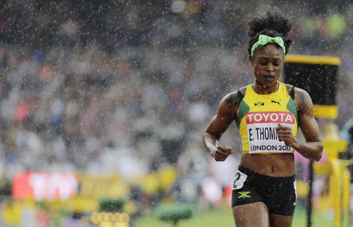 Elaine Thompson lors des séries du 100m, le 5 août.
