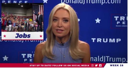 Kayleigh McEnany, la présentatrice de« News of The Week», le programme qui revient sur la semaine de Donald Trump.