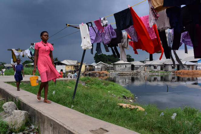 Un bidonville de Port Harcourt, dans le sud du Nigeria, en juin 2017.