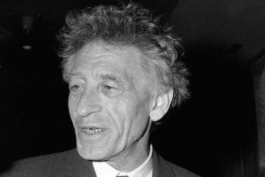 Alberto Giacometti (1901-1966) à bord du paquebot «France» en octobre 1965.