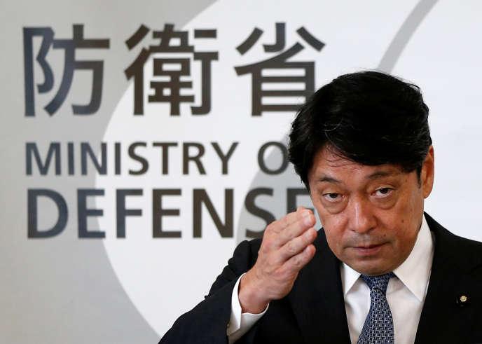 Le ministre de la défense japonais, Itsunori Onodera, lors d'une conférence de presse à Tokyo, le 8 août 2017.